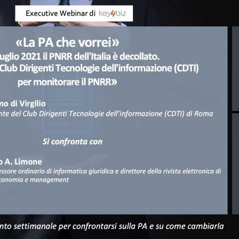 """""""La PA che vorrei"""", il 22 settembre alle 15 intervista live a Massimo di Virgilio (CDTI)"""